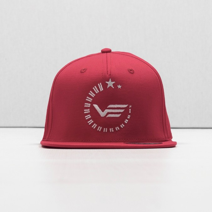 Outline Snapback - red